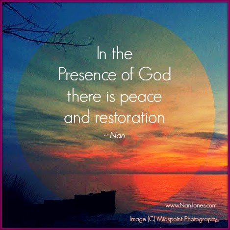 Finding God's Presence ~ Only In God