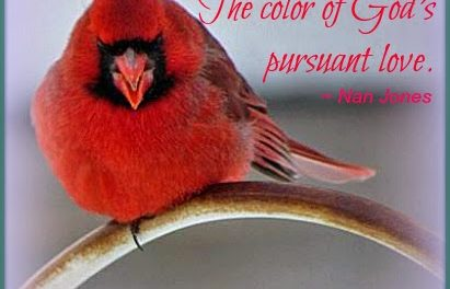 Finding God's Presence ~ Scarlet. The Color of God's Pursuant Love