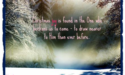 Finding God's Presence ~ How to Find Christmas Joy When Your Heart is Breaking