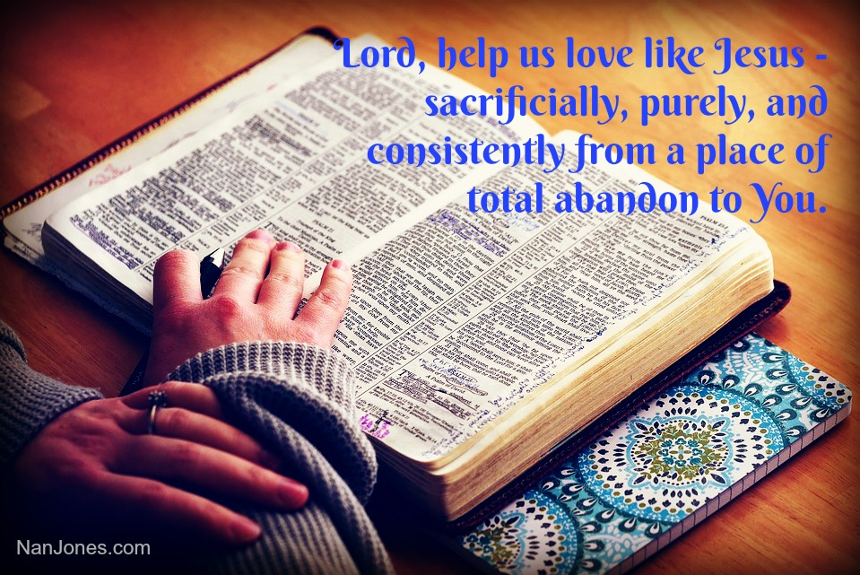 Lord, help us to be a giver of Your love.