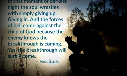 God Speaks to Us Out of The Night of The Soul