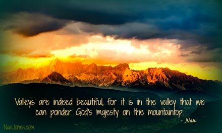 Why Must There Be a Valley in Our Lives?