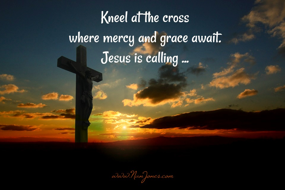 At the foot of the cross is where we find our healing.