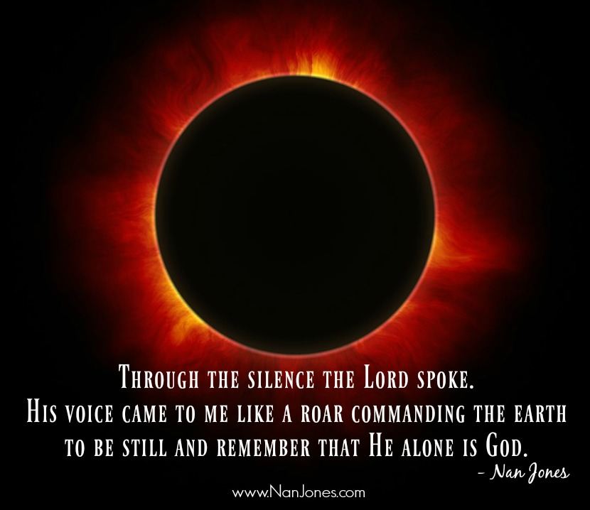 The authority of God seen through the 2017 total eclipse.