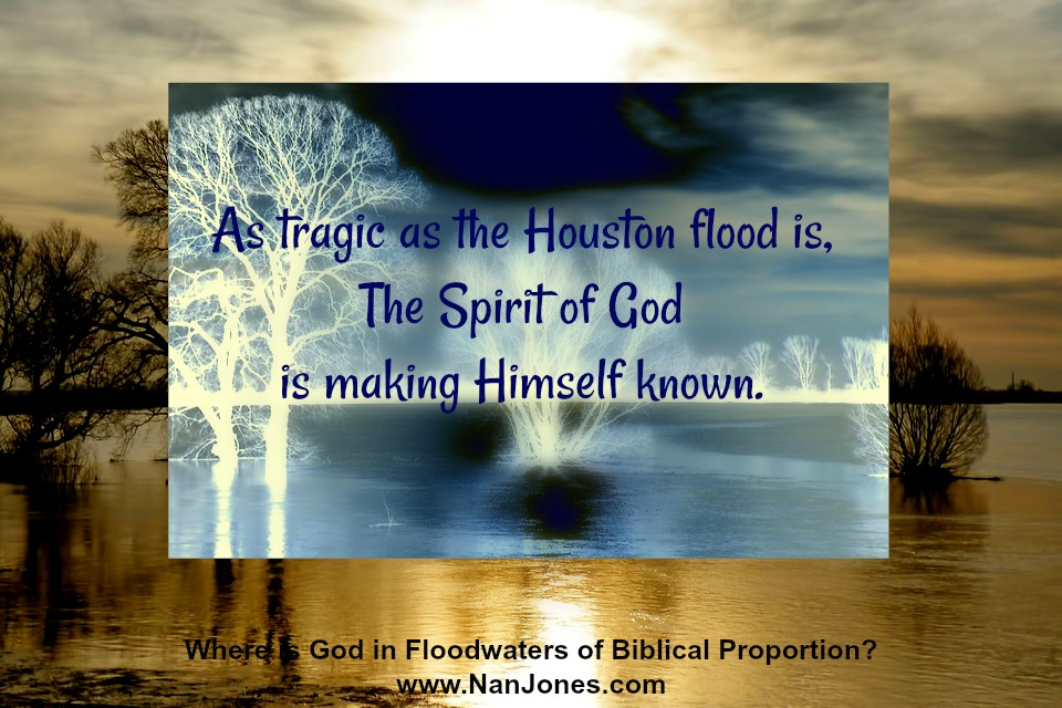 God is faithful, even in floodwaters. He promised to never leave us.