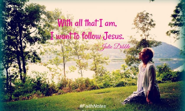 Faith Notes ~ Julie Dibble: But God, I Want To Be In Control!