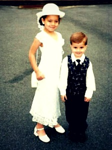Mariah and Aaron at church one week before their mother's murder.