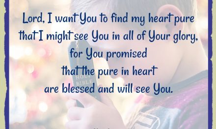 Finding God's Presence ~ A Prayer When Seeking a Pure Heart