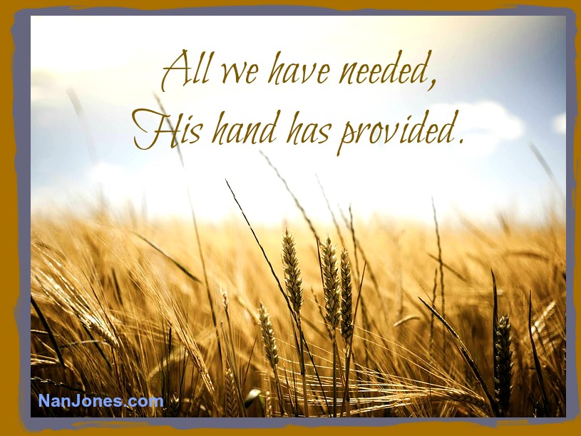 Finding God's Presence ~ Thirsting After Him. That's How We Gather His Provisions
