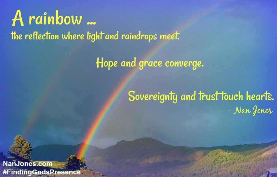 After the storm comes the rainbow reminding us to Whom we belong.