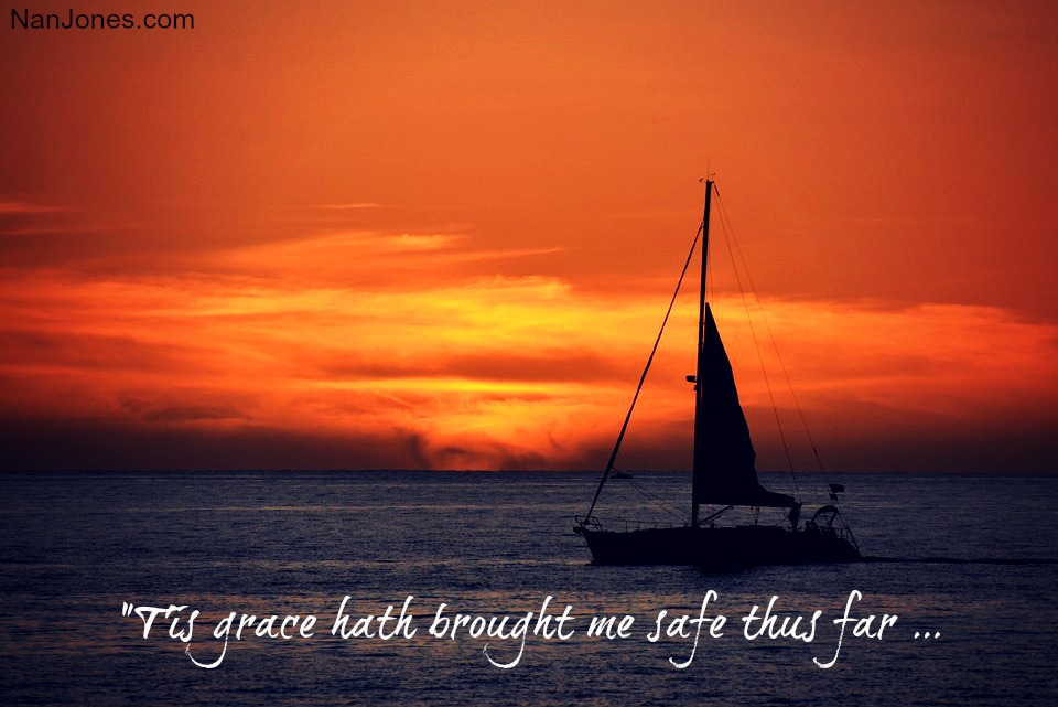 I am safe in God's amazing grace