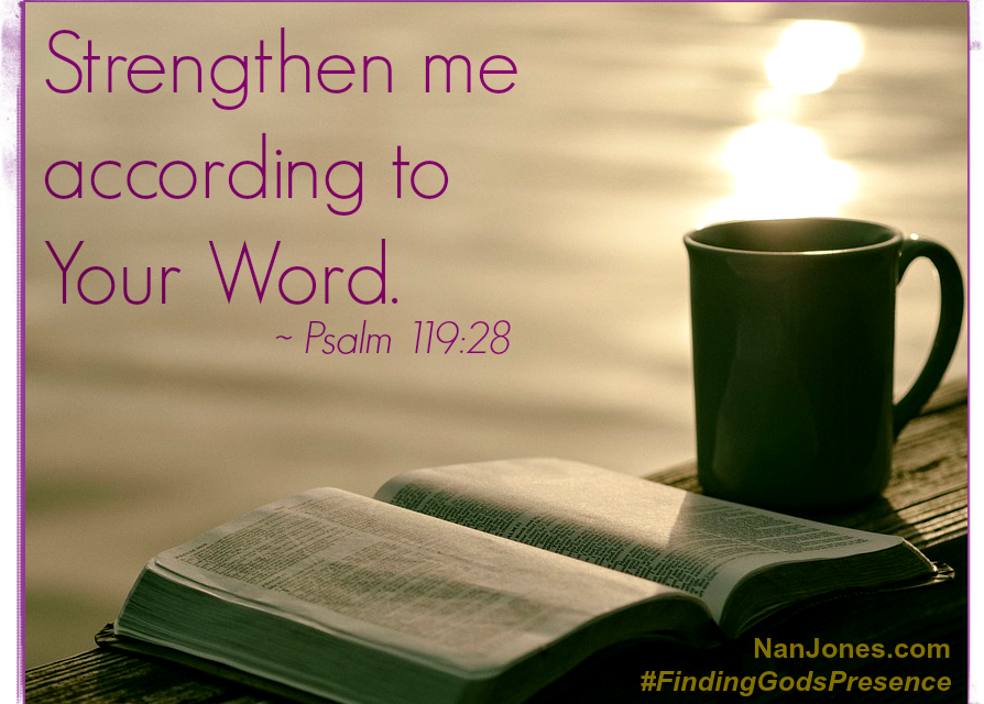 Finding God's Presence ~ Strengthen Me, O God