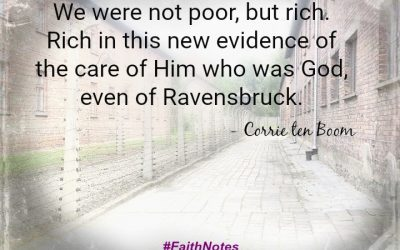 Faith Notes ~ Corrie Ten Boom: When Cockroaches Are a Blessing