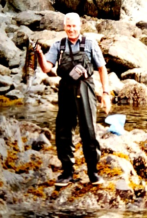 Norma's Daddy fishing in Alaska, 1995