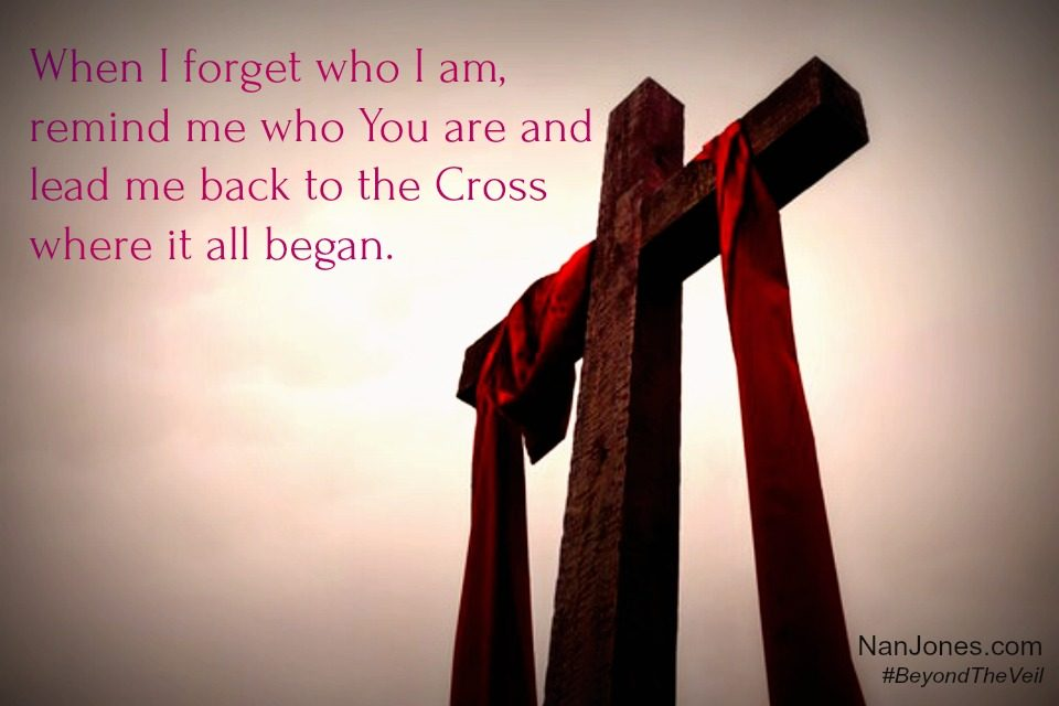 I cling to God through the old rugged Cross and remember my redemption story.