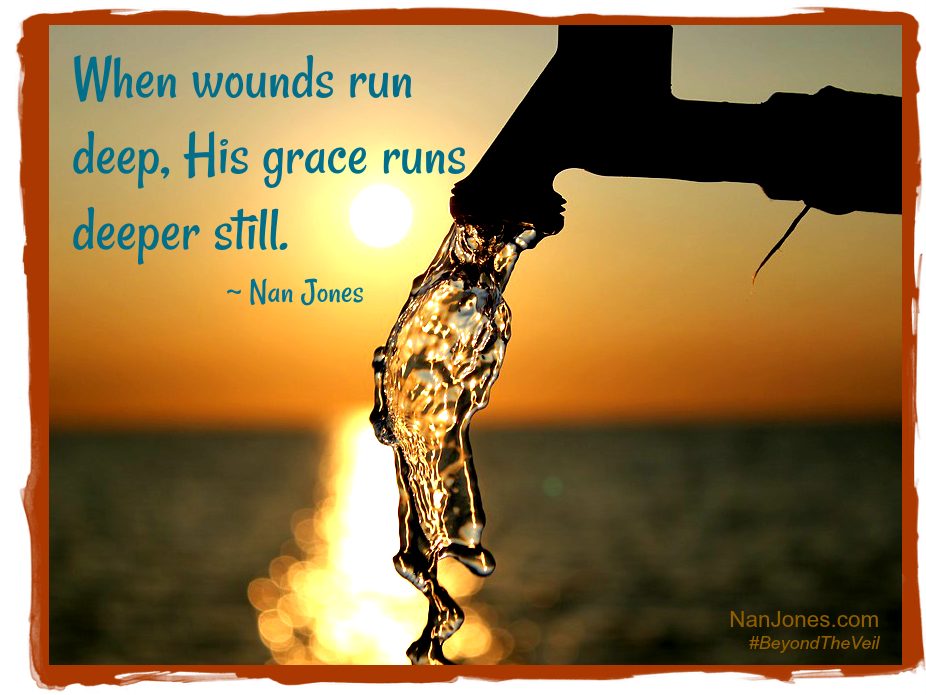 How amazing is it that the Lord knows when wounds run deep, and stands ready to heal us when we yield to Him.