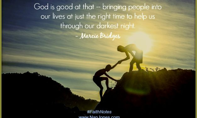 Faith Notes ~ Marcie Bridges: Mercy Revealed in the Shadow of Surrender