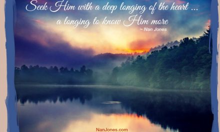 A Longing to Know Him … Just Because