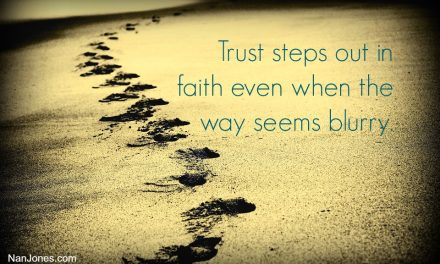 A Prayer to Follow His Footsteps When the Steps Are Blurry