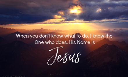A Prayer When You Don't Know What to Do